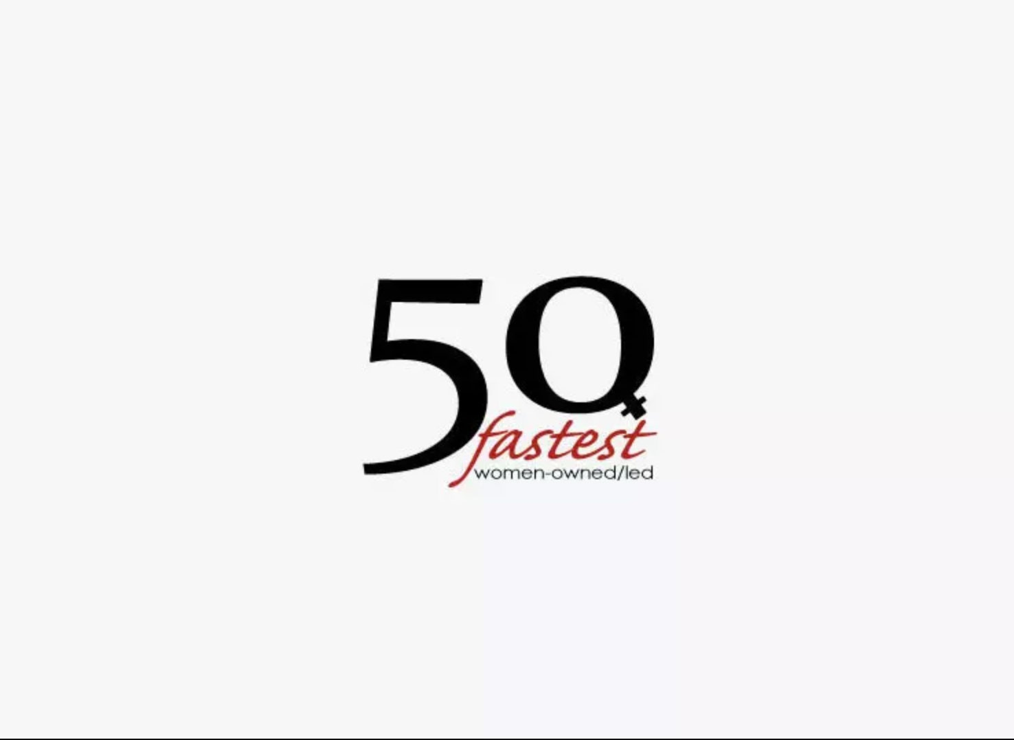 50 Fastest Women Owned and Led Logo