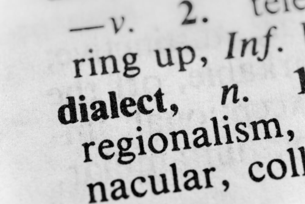 dialect in dictionary