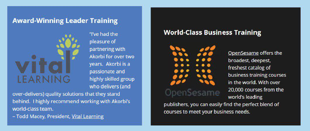 Award-winning leader training and world-class business training