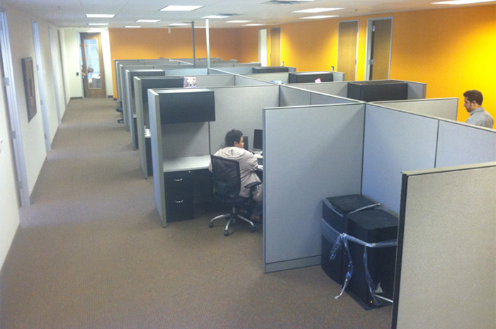 Picture of cubicles at Akorbi