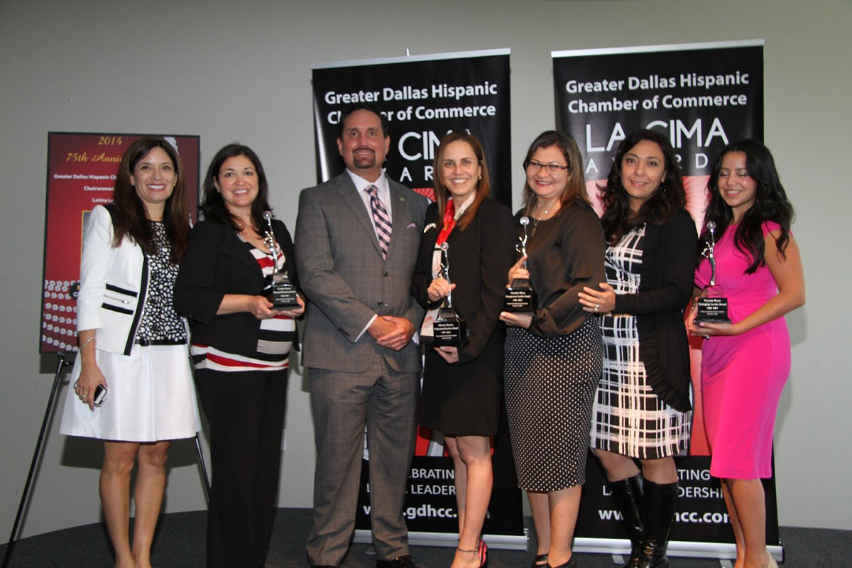 Group of winners at Greater Dallas Hispanice Chamber of Commerce