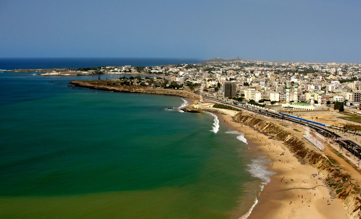 Coastal image of Dakar, Senegal
