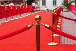 Red carpet at event