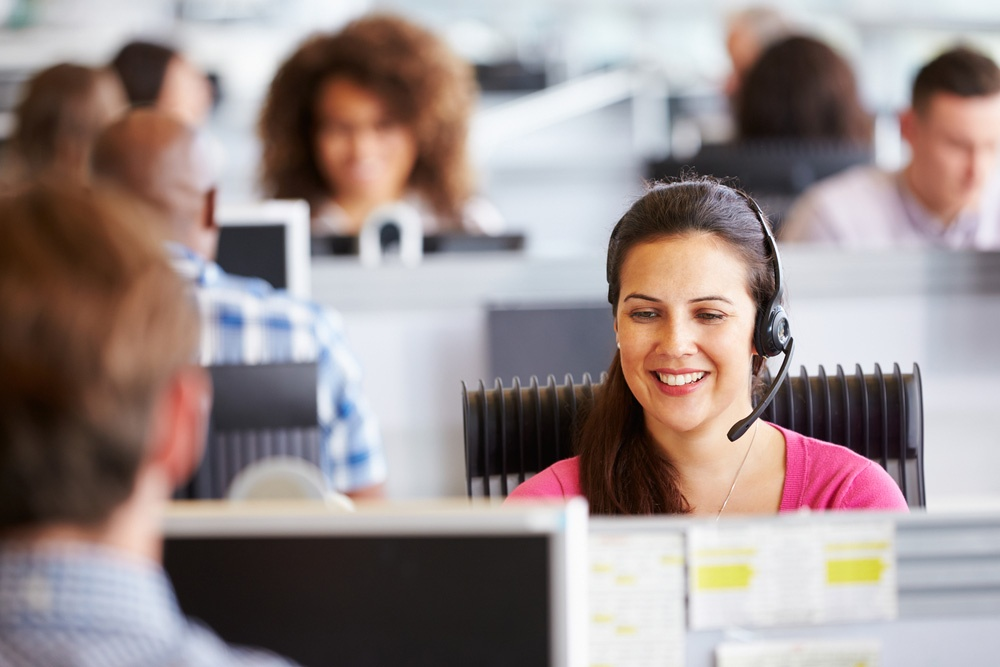 Young woman working in customer service
