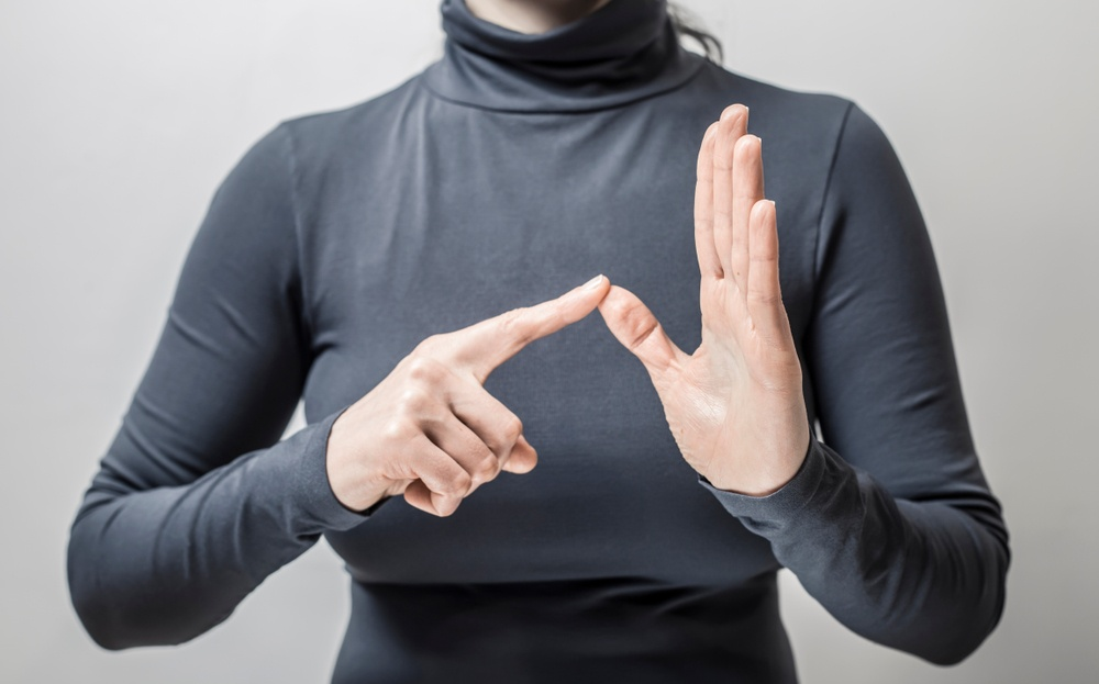 Woman Doing American Sign Language