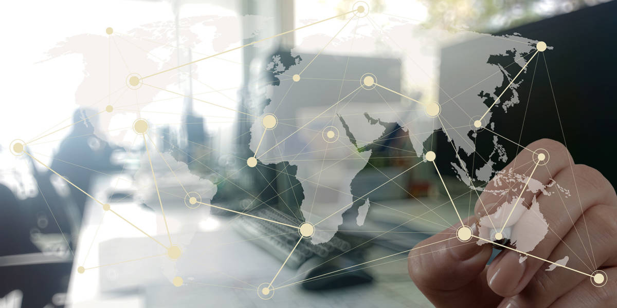 illustration representing globalized contact centers