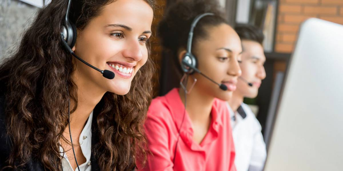 Workers at a Call Center