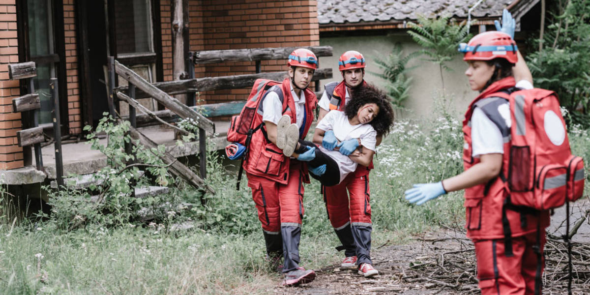 Red Cross Worker in Crisis Situation