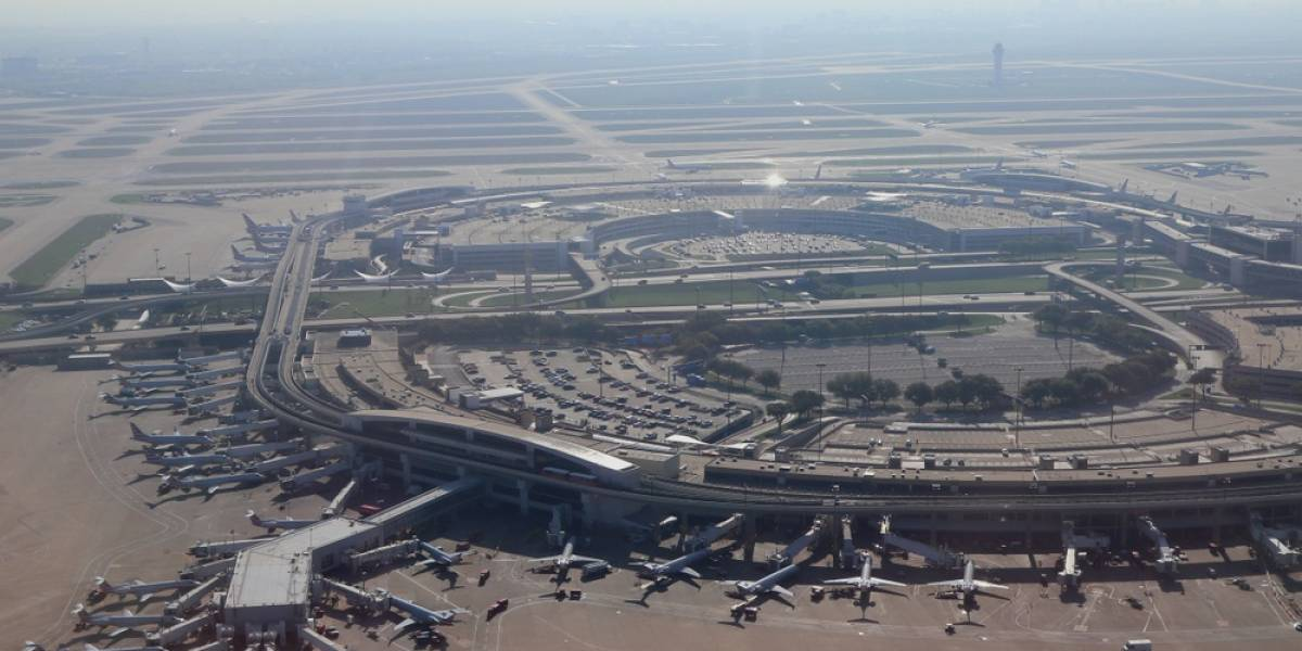 Dallas Fort Worth Airport View from Above